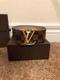Brown LV Damier Belt