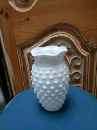 White Milk Glass Vase Alexandria, 22301