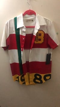 red and white striped polo shirt Laurel, 20708