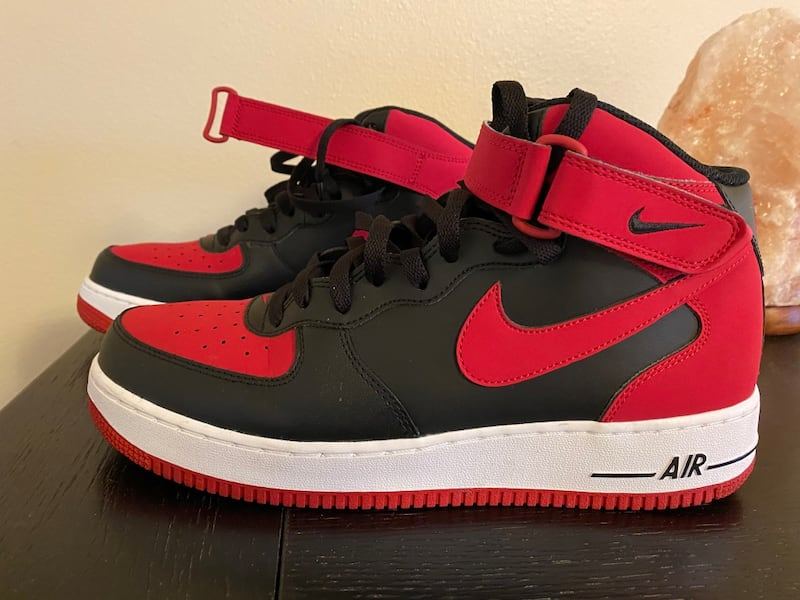 Used Nike Air Force 1 High Black Red 10 5 For Sale In Elkhorn