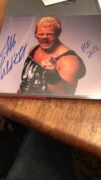 WWE HOF Signed pic with COA Chantilly, 20151