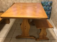 Wooden Table with Bench