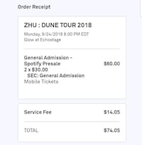 ZHU Ticket Washington