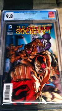 CGC Justice League # 23.4 - Secret Society # 1 3-D Toronto, M3M 2M6