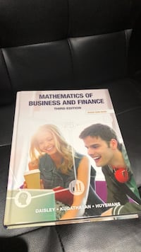 Mathematics of Businesses and Finance 3rd Edition Toronto, M9W