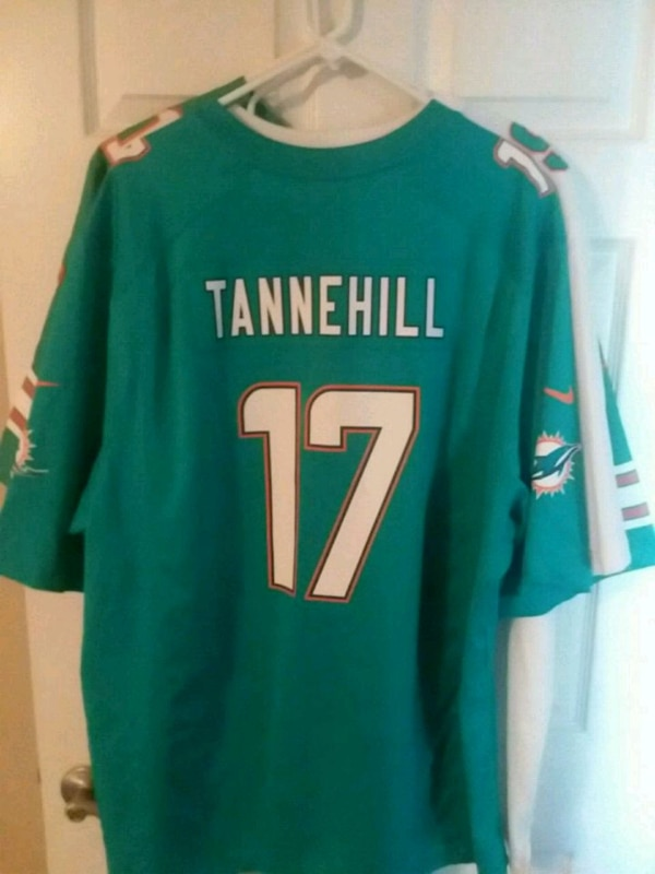 New Used green and white Miami Dolphins Tannehill 17 jersey for sale in  free shipping