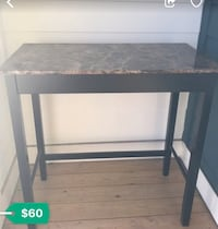 Two person rectangular high table
