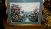 Large wood framed painting Oklahoma City, 73139