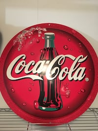 red and white Coca-Cola analog wall clock Edmonton, T6A 3X7