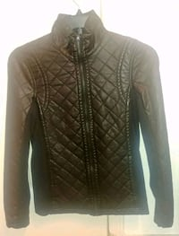 Womans S black faux leather zip-up jacket Socorro, 79927