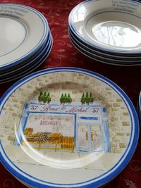 French design Dinner, Salad, Soup plates, etc...  Fairfax, 22030