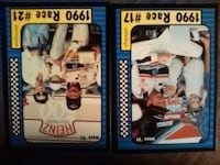 two assorted baseball trading cards