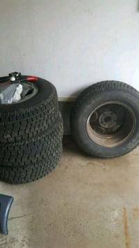 two black auto wheel with tires Innisfil, L9S 1Z7