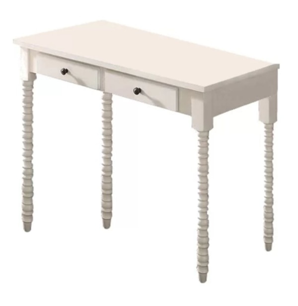 White Vintage Style Writing Desk