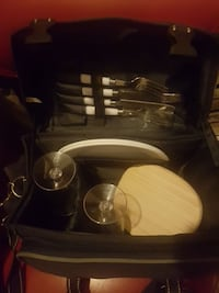 Cutlery set with bag