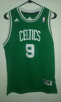 white green adidas boston celtics rajon rondo 9 basketball jersey Sanford, 27330