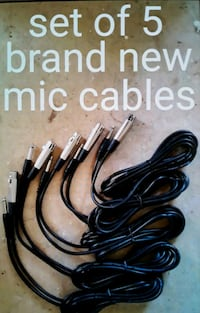 5 brand new mic cables