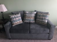 gray fabric 2-seat sofa with throw pillows Erlanger, 41018