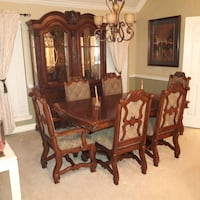 brown wooden dining table with chairs Houston, 77095