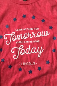 Lincoln quote T-shirt size M