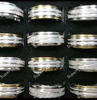 Unisex Rotatable Stainless Steel Rings - Brand New