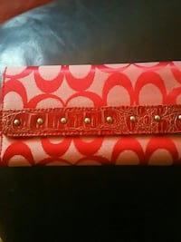 red and brown Coach monogram wallet Toronto, M1G 3G3