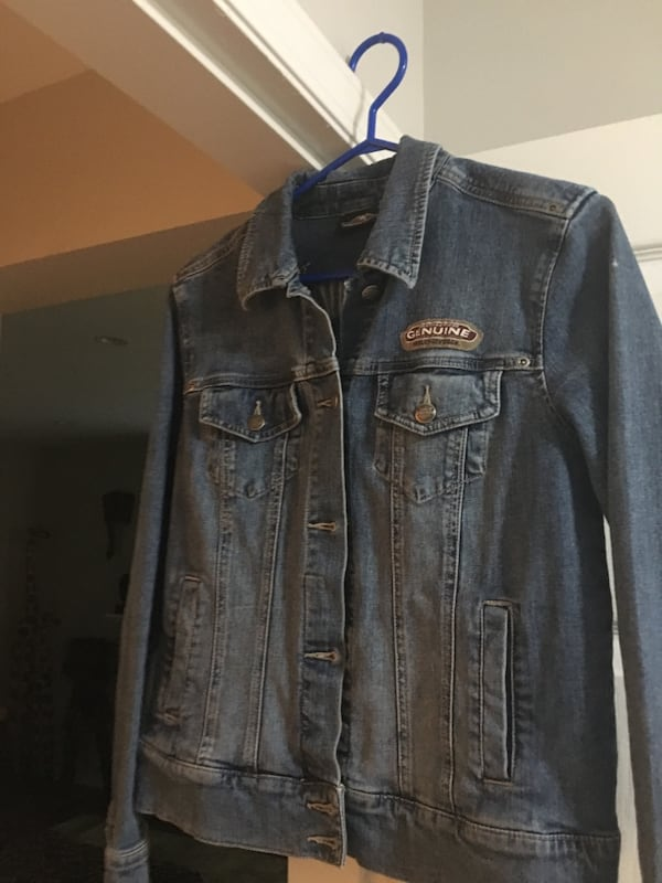 Blue denim button-up jacket Harley Davidson  877e84a3-2a87-44d1-8fab-370dc3360f19