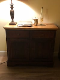 Brown wooden 2-door cabinet.  A tenant is moving in and it must go. If you can come soon, I'll lower the price    South Setauket, 11720
