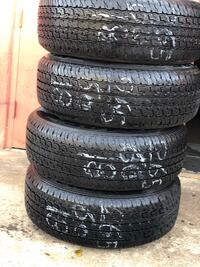 265/60/18 used tires MRF good tires like new tires set of 4 for $300.00 a set no mounted no balance no machine.  Richardson, 75081