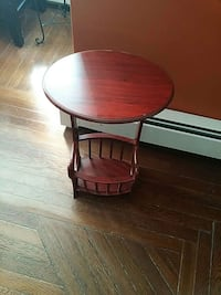 round brown wooden table