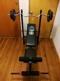 Weight bench + (100LB) 90LB weight with bar Burnaby, V5H 3C5