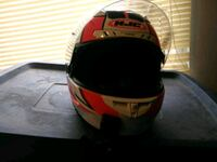 red and black full-face helmet Reno, 89521