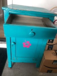 Drawer Cabinet End Table