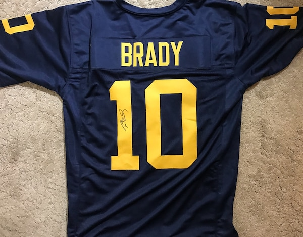 big sale 04495 d307a Tom Brady Signed Autographed Michigan Wolverines Jersey