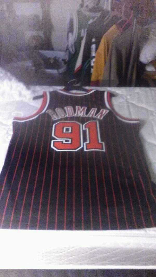 970182cb4 Used black and red Chicago Bulls 31 basketball jersey for sale in ...