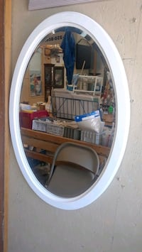 White Wood Framed Oval Mirror(New) Spring Hill, 34609