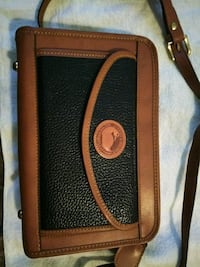 brown and navy blue leather Dooney & Bourke purse Chattanooga, 37411