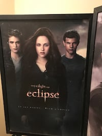 The twilight saga eclipse poster and new moon game never used