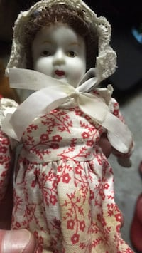 """8"""" tall antique porcelain doll"""