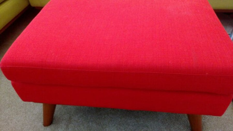 Custom 2017 made mid century style couch and ottom 90b98a16-b870-4a6b-bed8-7a4ba470cff9