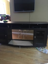 black wooden TV stand with flat screen TV London, N5V 1M8