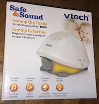 White vtech safe&sound tommy the turtle storytelling soother box Toronto, M9M 1R4