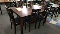 Brand New 7 Piece Wood Dining Set  Silver Spring