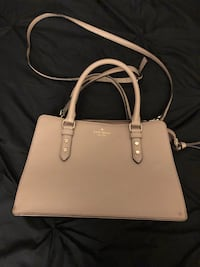 Women's light leather tote bag Chicago, 60606