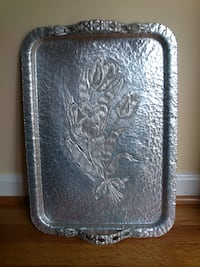 Large Hammered Aluminum Tray West Springfield