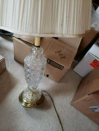 Clear crystal table lamp Frederick, 21702