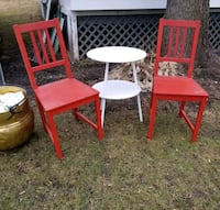 2 Red IKEA chairs Chester, 10918