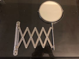 Vanity Mirror - extendable, 360 rotation, magnification on 1 side