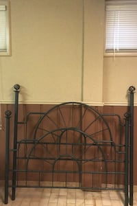 Rod Iron Bed frame with head board  & 2 night tables, rails included Toronto, M3N 2G5