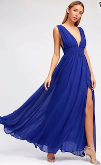 HEAVENLY HUES ROYAL BLUE MAXI DRESS LULUS Springfield, 22150
